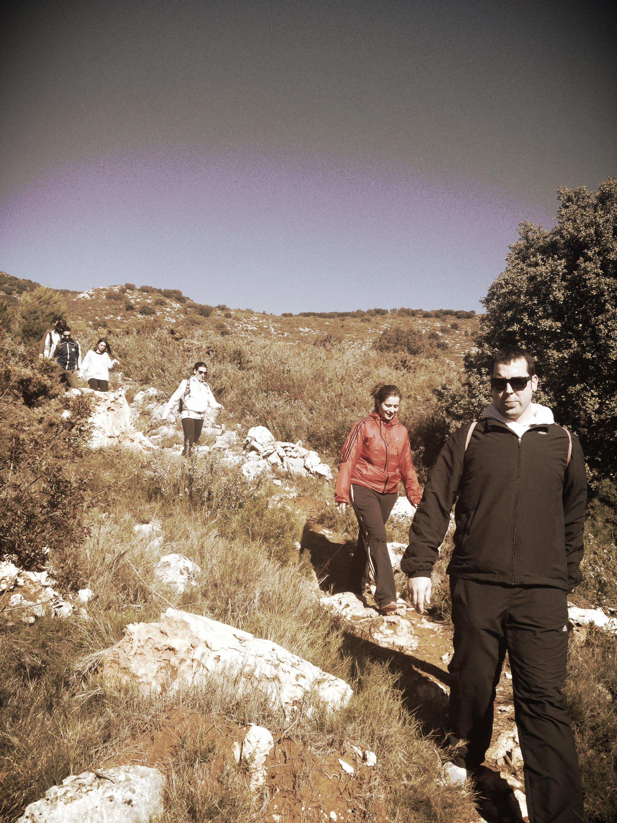 Bajada del Alto de la Safor.